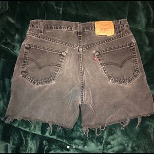 Distressed gray Levi's shorts!!!